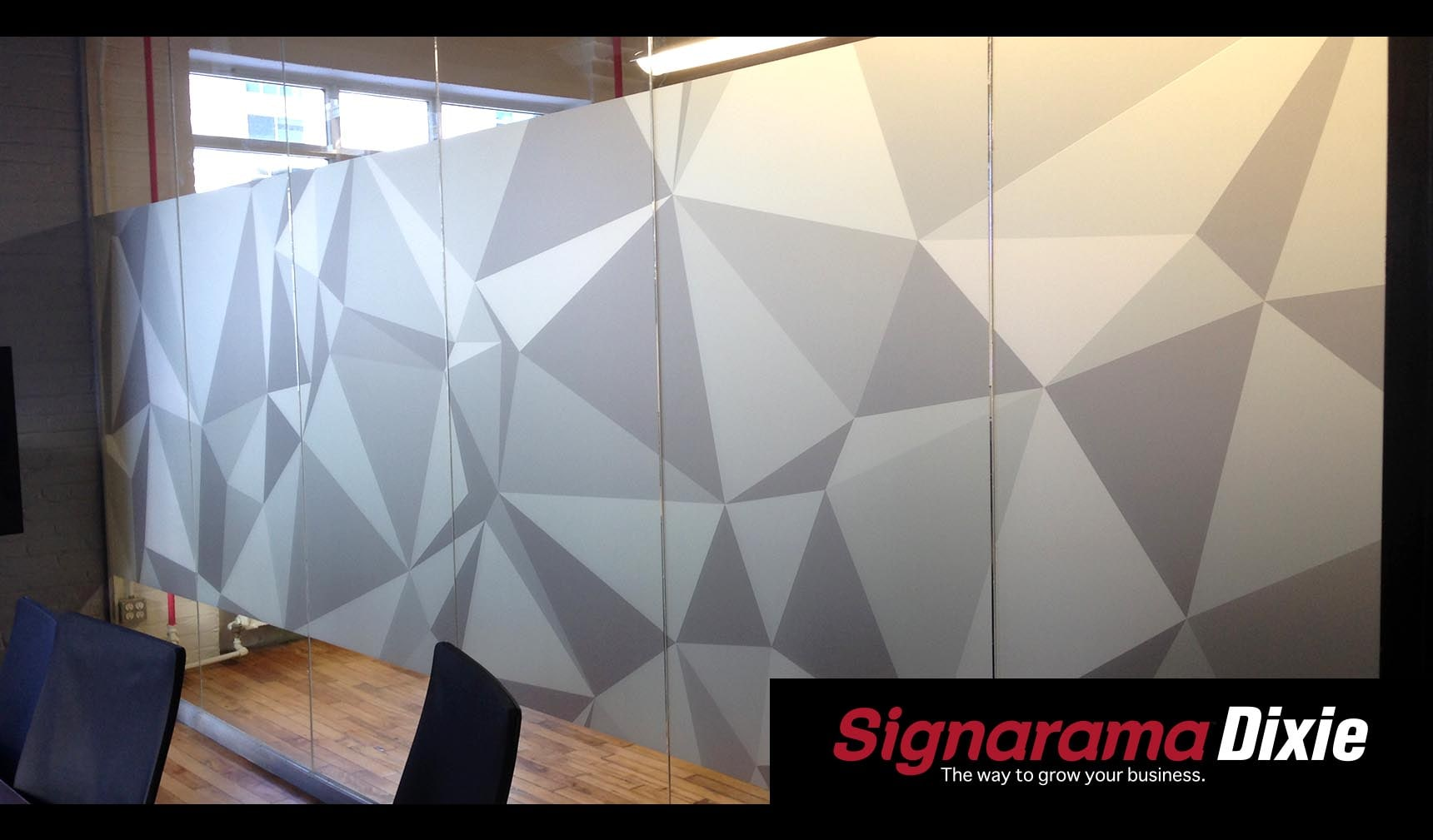 Office Interior Window Graphics