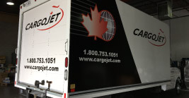 custom truck wrapping for cargojet