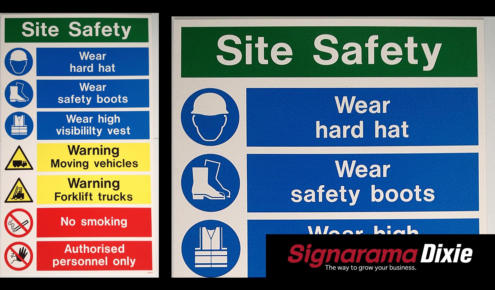 warehouse safety sign