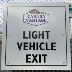 custom vehicle exit sign