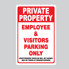 private property sign for sale