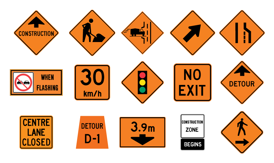 Temporary Signs manufactured for sale